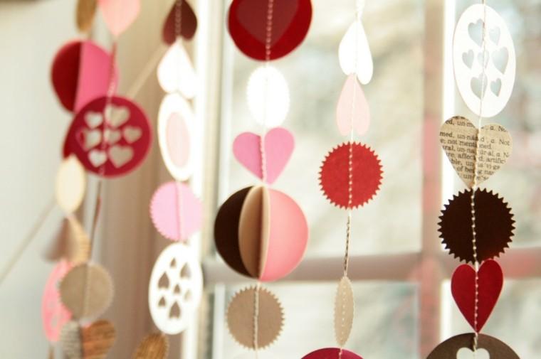 guirnaldas cartón san Valentín