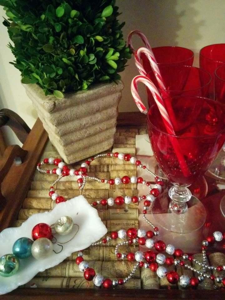 manualidades de navidad para niños guirnaldas decorativas bolas colores