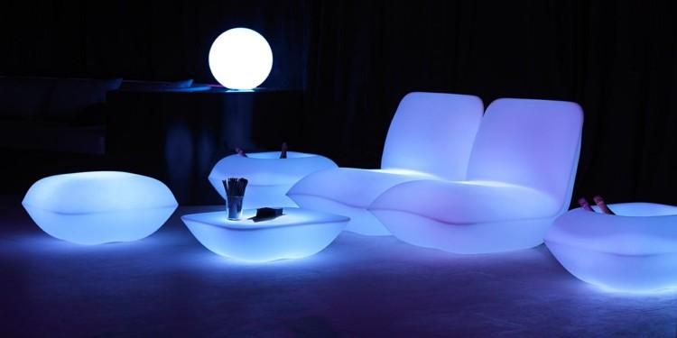habitaciones modernas ideas led nocturno