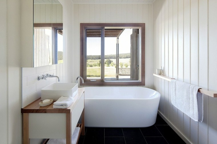 Lavabos Para Baños Estrechos:Habitaciones vintage 37 ideas retro para el hogar -