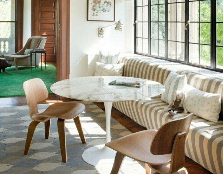 habitacion vintage comedor banco sillas madera ideas