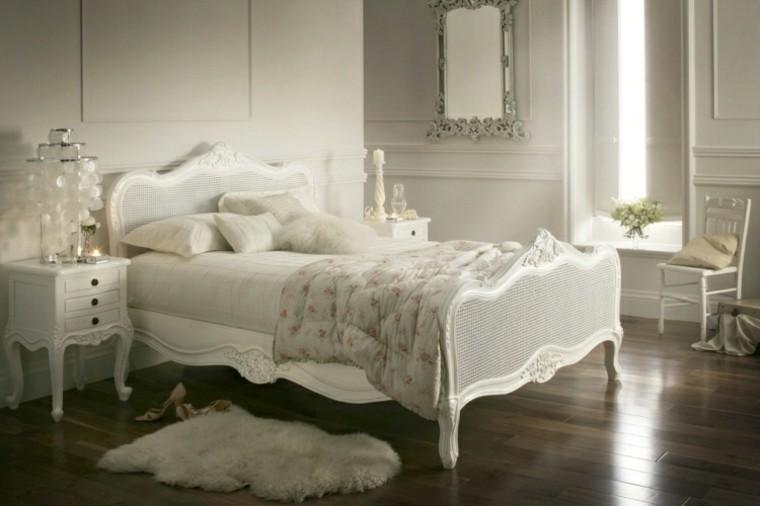 vintage dormitorio cama blanca ideas