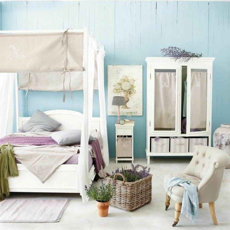 habitacion vintage dormitorio cama dosel vintage ideas