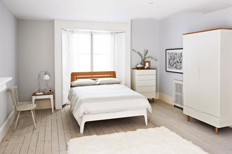 habitaciones vintage dormitorio muebles blancos ideas