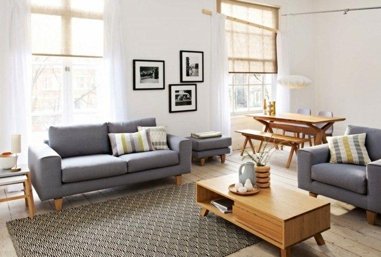 habitaciones vintage salon comedor muebles madera ideas