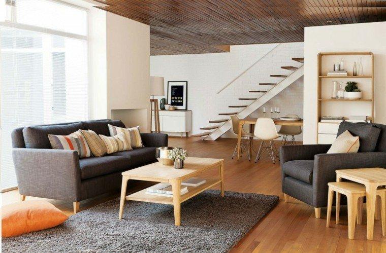 habitacion vintage salon mesa madera ideas