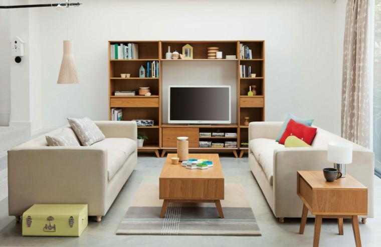 habitacion vintage sofas color claro ideas