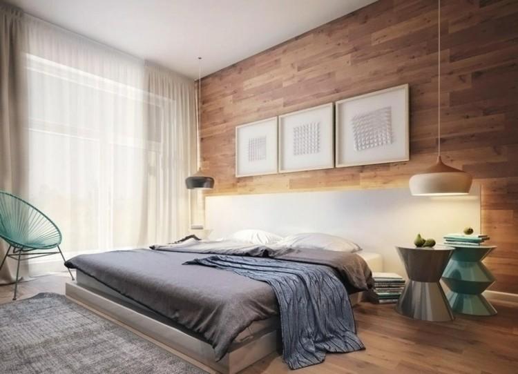 habitación modena pared madera