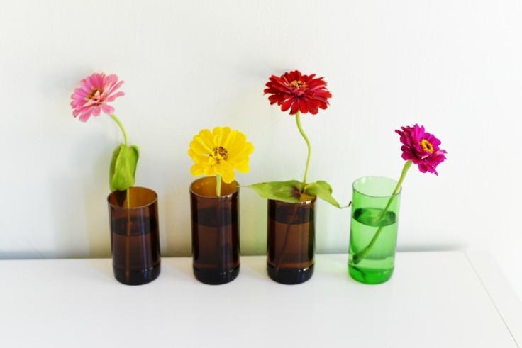 hacer jarrones botellas vidrio