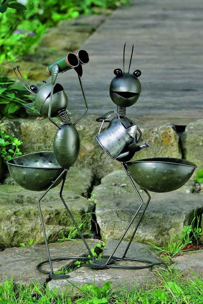 Adornos jardin e ideas originales en 100 im genes for Figuras para el jardin