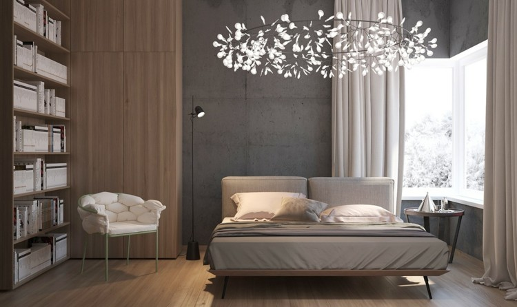 hormigon estantes maderas cortinas suelos