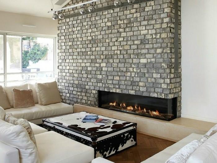 ideas chimeneas decoracion rocas cueros