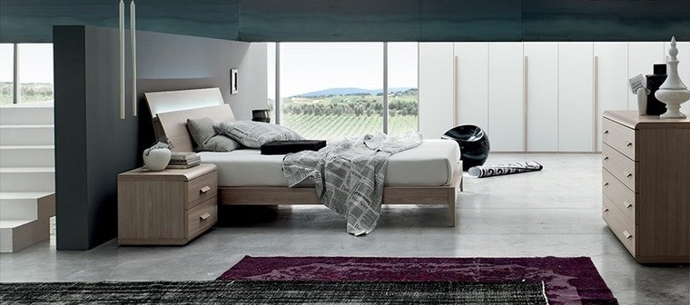 ideas de decoracion dormitorio alfombra color rojo moderno