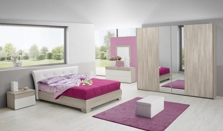 ideas de decoracion dormitorio alfombra color rosa moderno