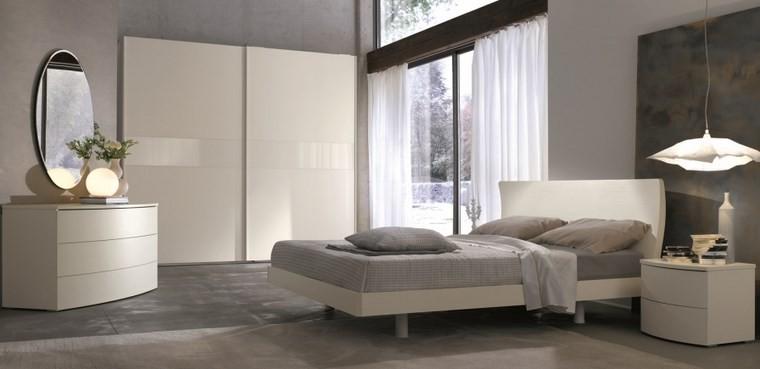 ideas de decoracion dormitorio armario blanco moderno