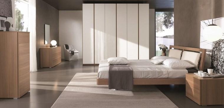 ideas de decoracion dormitorio armario grande espejo moderno