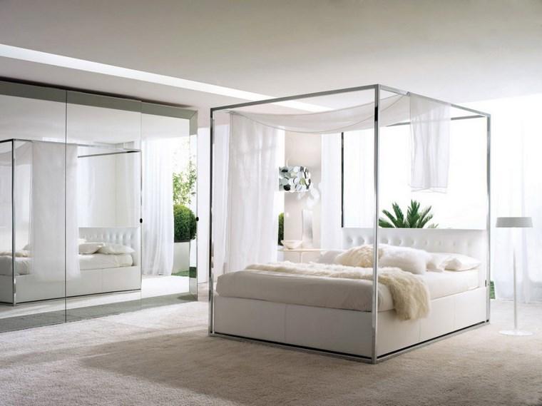 ideas de decoracion dormitorio cama dosel moderno