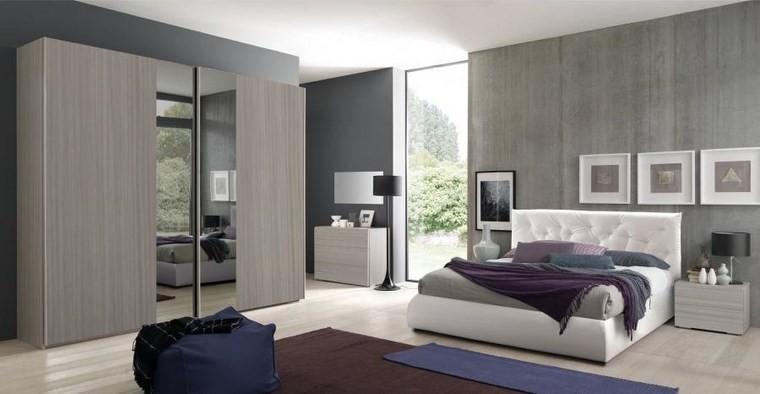 ideas de decoracion dormitorio cuadros blancos moderno