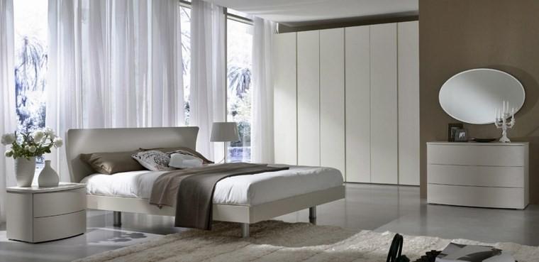 decoracion dormitorio espejo forma ovalada ideas