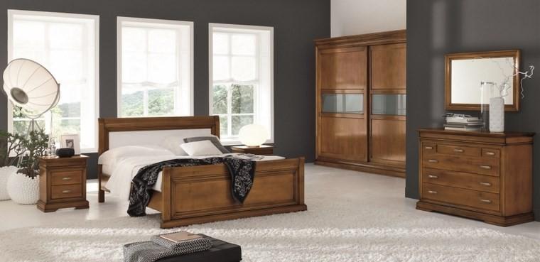 decoracion dormitorio espejo marco madera ideas