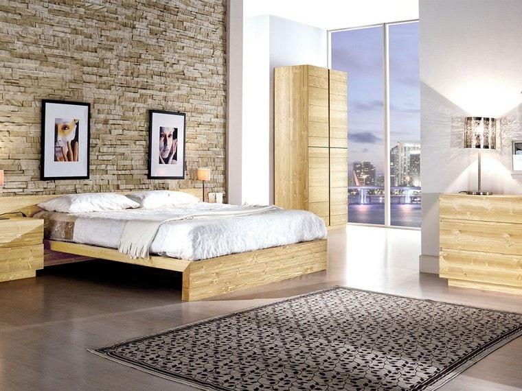 decoracion dormitorio muebles madera ideas