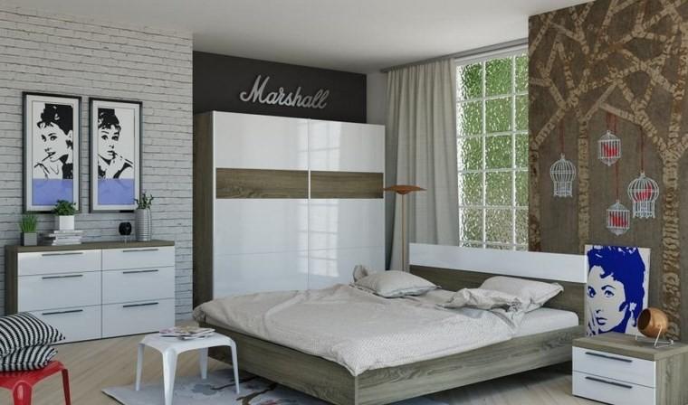 Ideas de decoracion 36 opciones para el dormitorio - Papel pared dormitorio ...