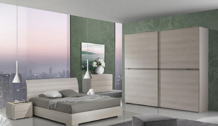 decoracion dormitorio pared color verde claro ideas
