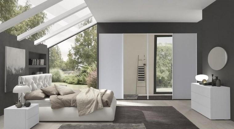 decoracion dormitorio paredes gris ideas