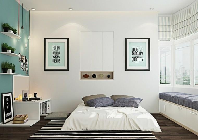 decoracion dormitorio alfombra moderno