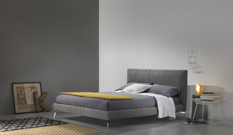 decoracion dormitorio cama gris ideas