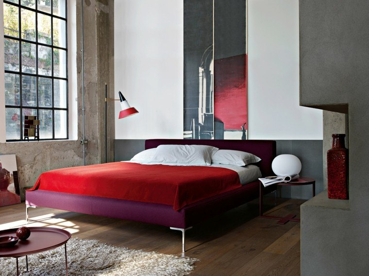 decoracion dormitorio cuadro rojo ideas