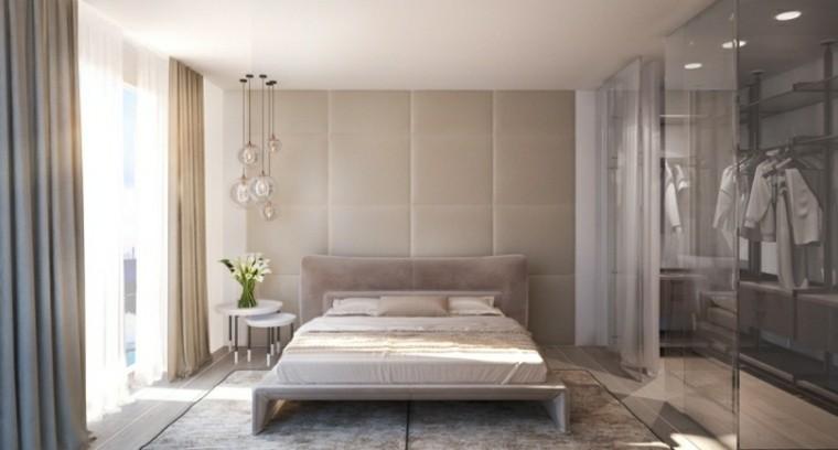 decoracion dormitorio mesitas noche blancas ideas