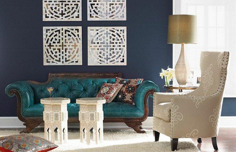 decoracion salon madera blanca pared estilo
