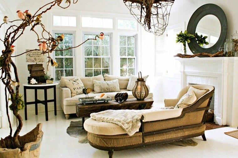 decoracion salon natural vintage estiño