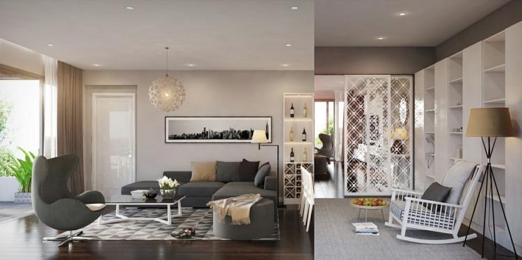 ideas para decorar salon jardines vidrio