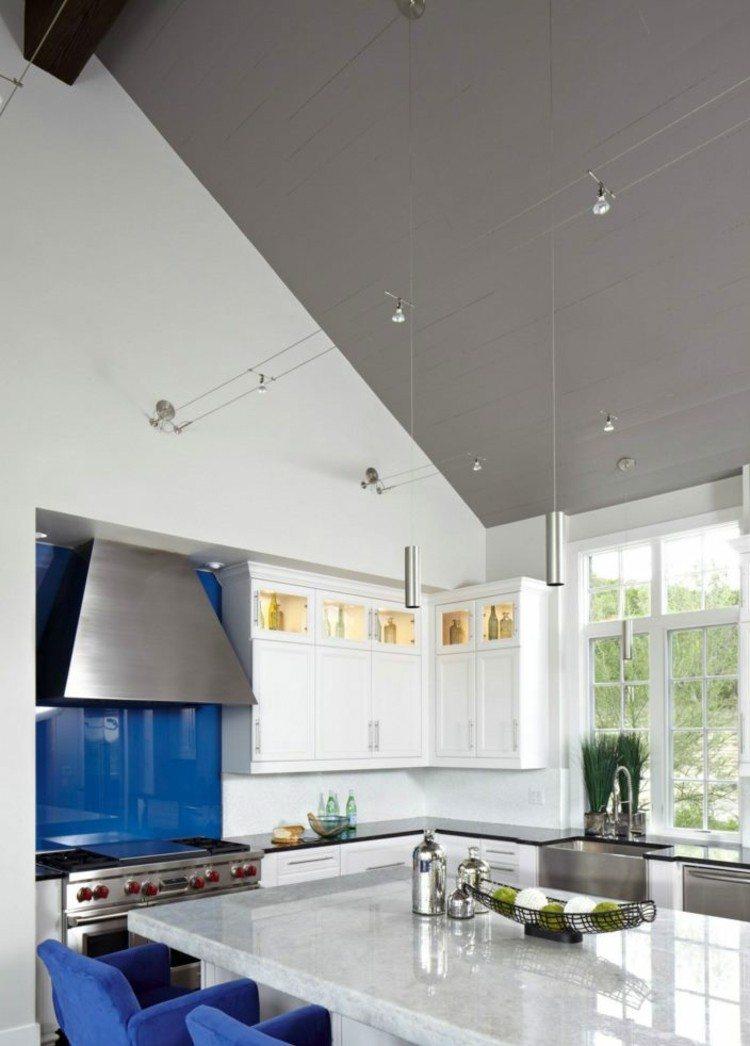 iluminacion ideas estilos cocinas marmol
