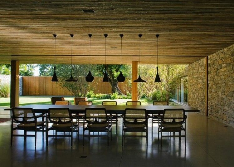 iluminacion ideas estilos madera casas