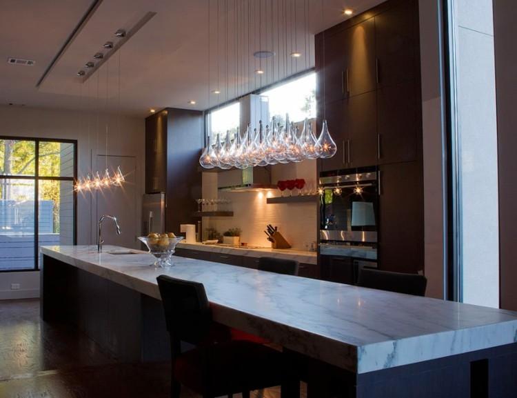 iluminacion ideas estilos marmol cristales