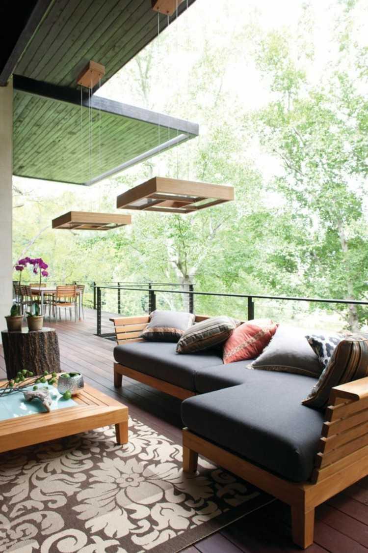iluminacion ideas estilos terrazas sillones