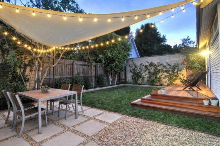 iluminacion jardines grava mesas luces carpa