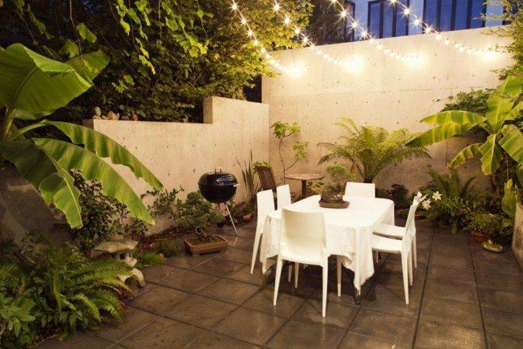 iluminacion jardines maderas bancas exteriores comedor