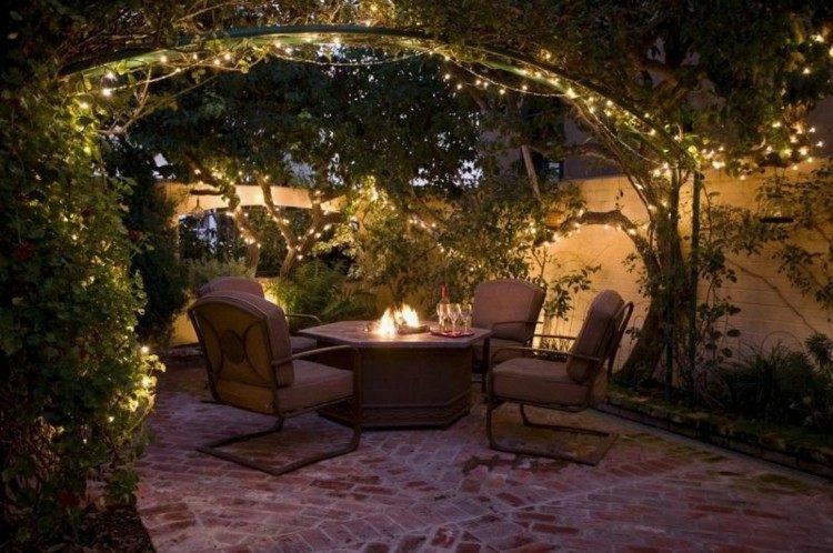 iluminacion jardines suelos metales sillones