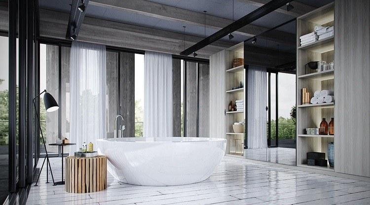 iluminacion opciones originales pared baño amplio ideas