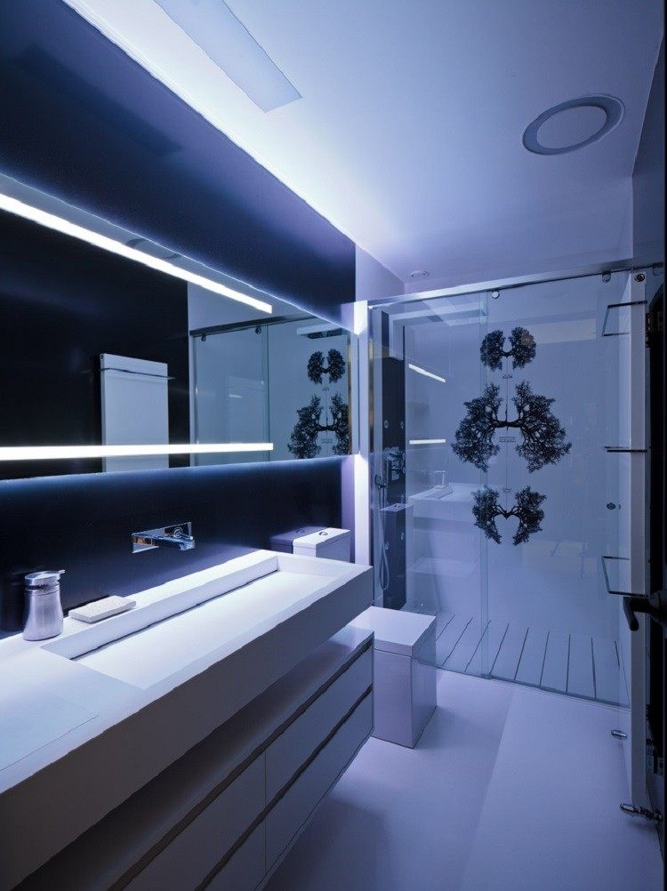 Iluminar Baño Oscuro:iluminacion opciones originales pared bano espejo ideas