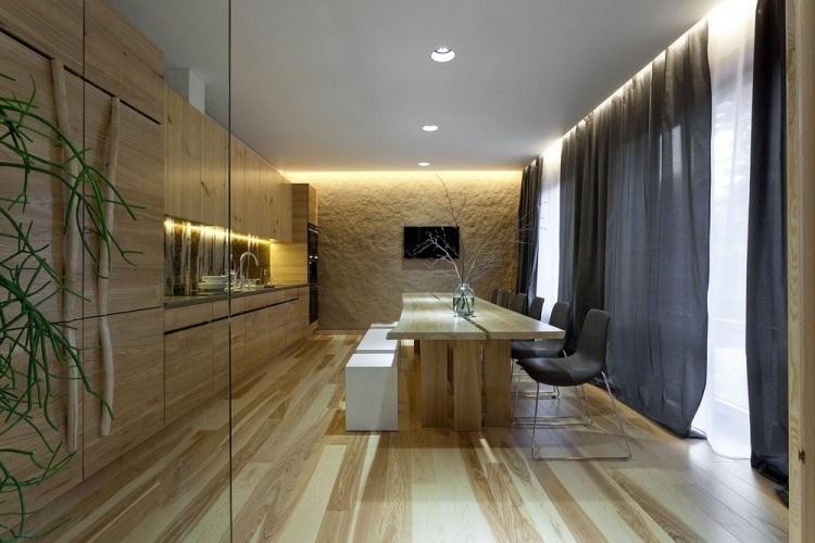 iluminacion opciones originales pared cocina comedor ideas