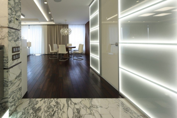 iluminacion opciones originales pared cristal ideas