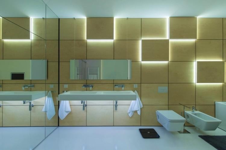 iluminacion opciones originales pared cuadrados madera ideas