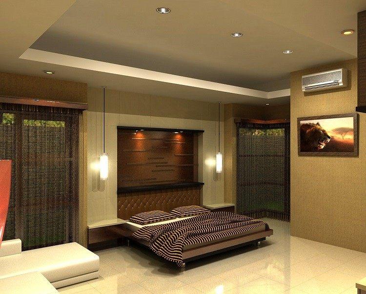 iluminacion opciones originales pared dormitorio moderno ideas