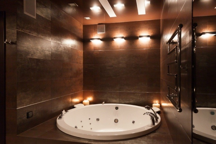 iluminacion original pared jacuzzi ideas