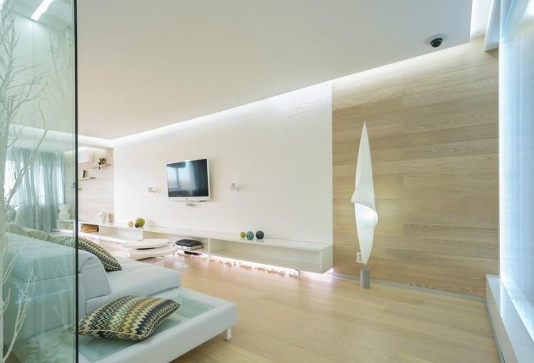 Iluminacion opciones originales para la pared - Iluminacion salon led ...